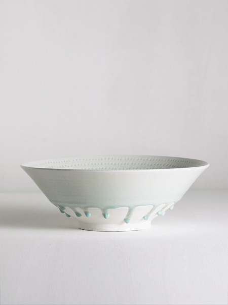 large bowl with incised decoration and celadon glaze