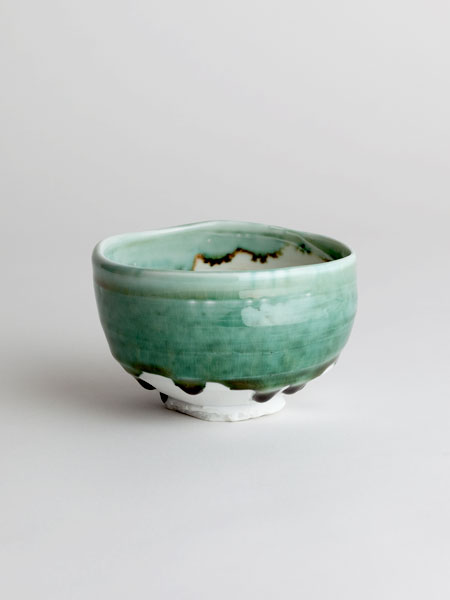 copper glaze chawan