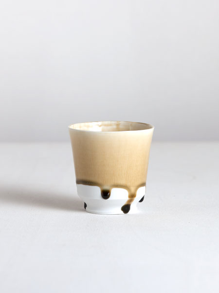 cup with ash glaze