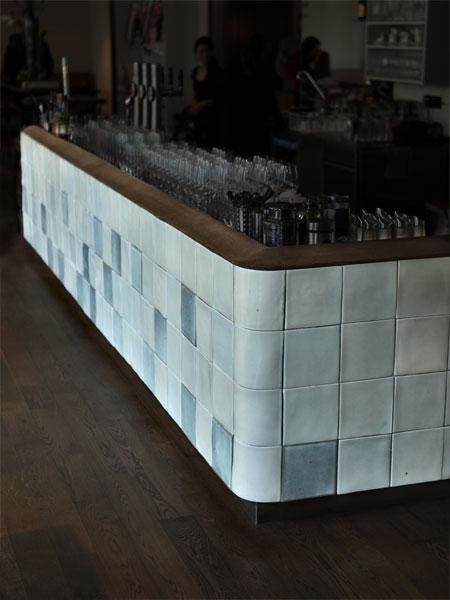 tiled bar at café ansari, vienna