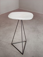 porcelain and steel table