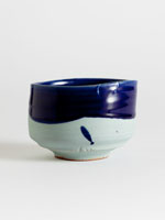 blue and green chawan