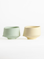 green and yellow chawan