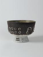 manganese cracked slip bowl