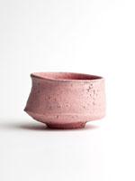 pink cracked slip chawan