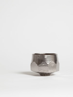 faceted platinum german chawan