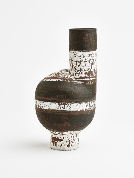 black and white wayward vase