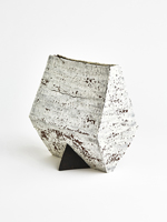 black triangle cracked slip vase