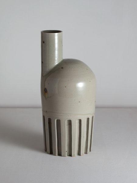 carved wayward celadon vase