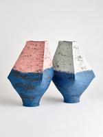 indigo roof vases