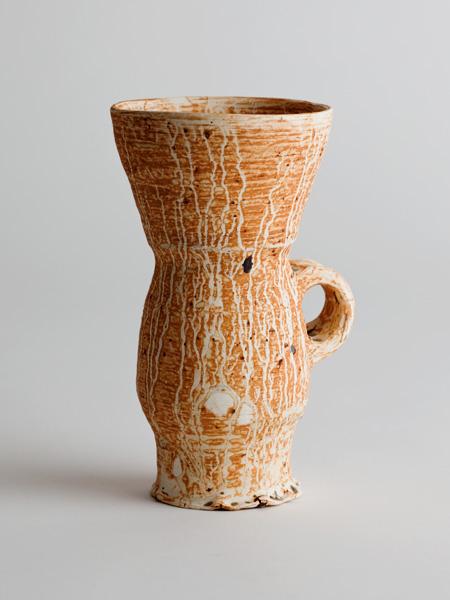 jar with snailshell glaze