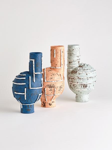 line wayward vases