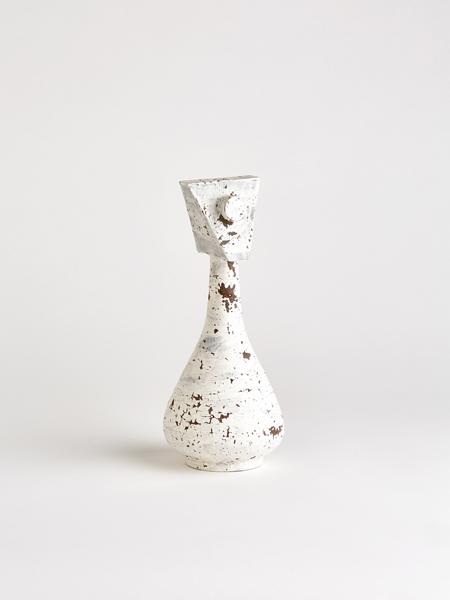 white relief vase